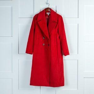 H&M Red Pea Coat